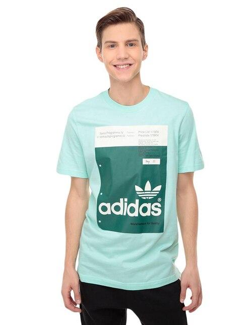 545406bd5f829 Playera Adidas Originals corte regular fit cuello redondo verde pistache