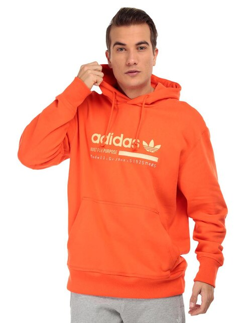 Sudadera Adidas Originals cuello redondo naranja capucha 2a91ee3f961