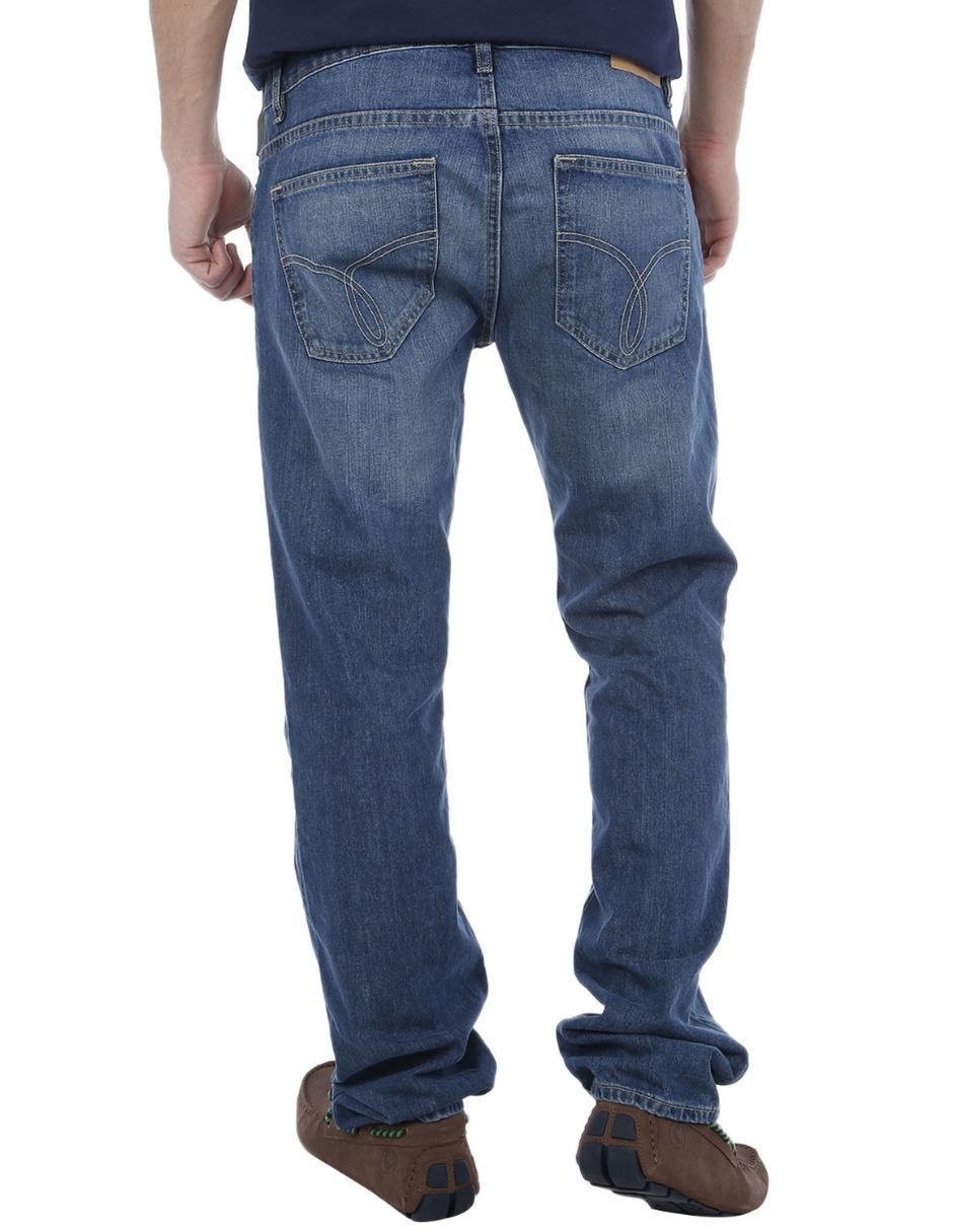 Jeans Calvin Klein corte slim azul medio Precio Sugerido