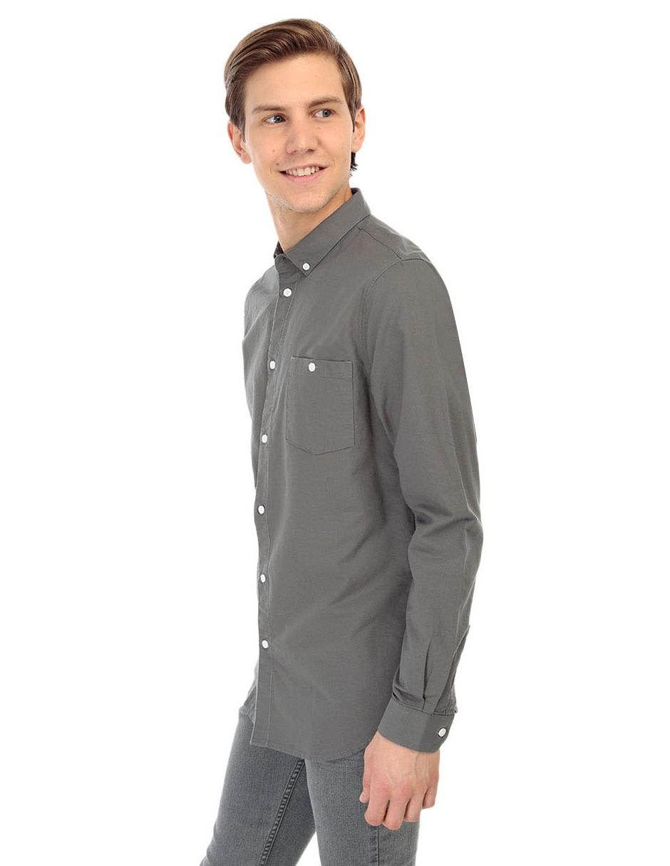 That's Algodón It Fit Larga Corte Camisa Manga Manga Camisa Regular Casual eadf72