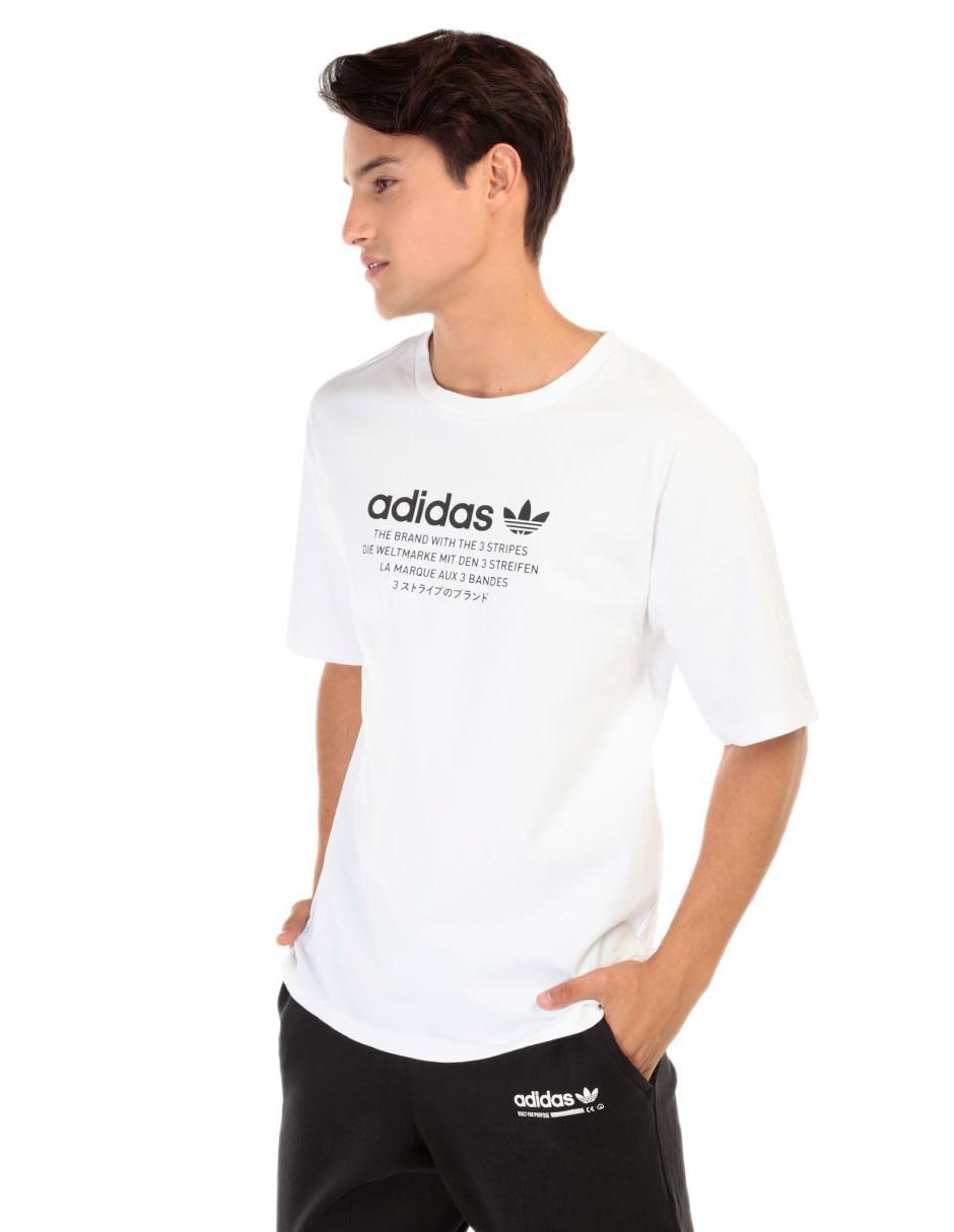 896c0d69 Playera Adidas Originals corte regular fit cuello redondo blanca
