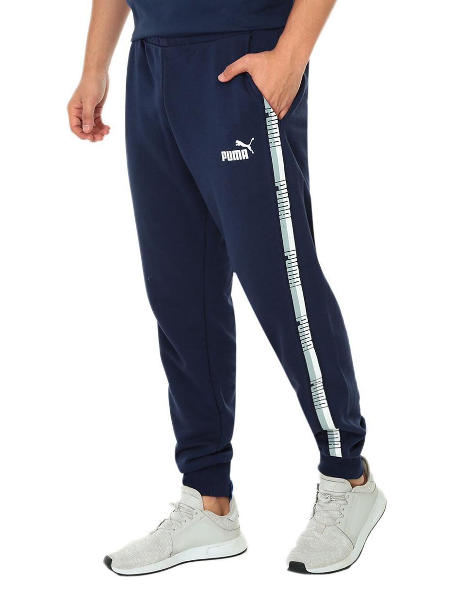 Pants Puma corte slim fit azul