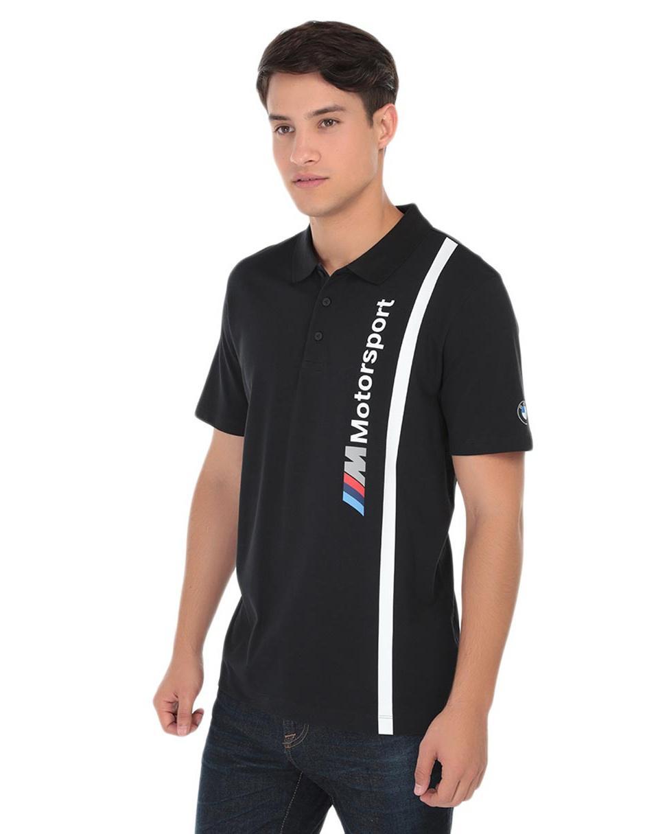 fec9e2bd5 Playera polo Puma BMW Motorsport algodón negra
