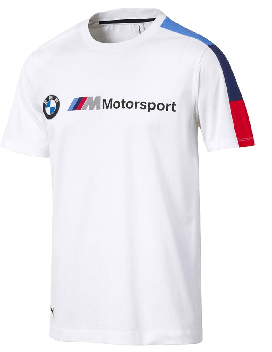 588b00b4 Playera Puma BMW Motorsport cuello redondo algodón blanca