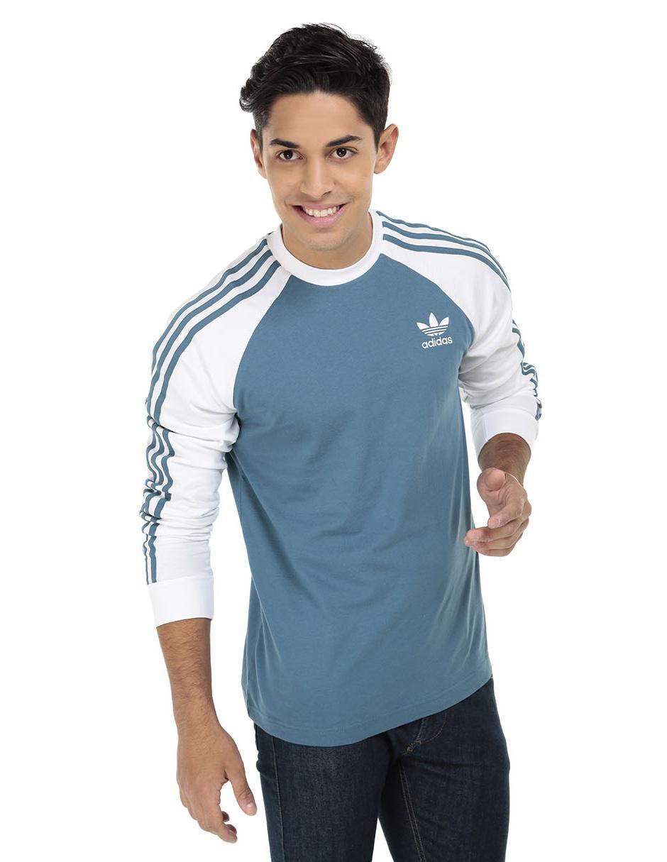 b7f5441f Playera Adidas Originals corte regular fit cuello redondo azul | Liverpool  es parte de MI vida