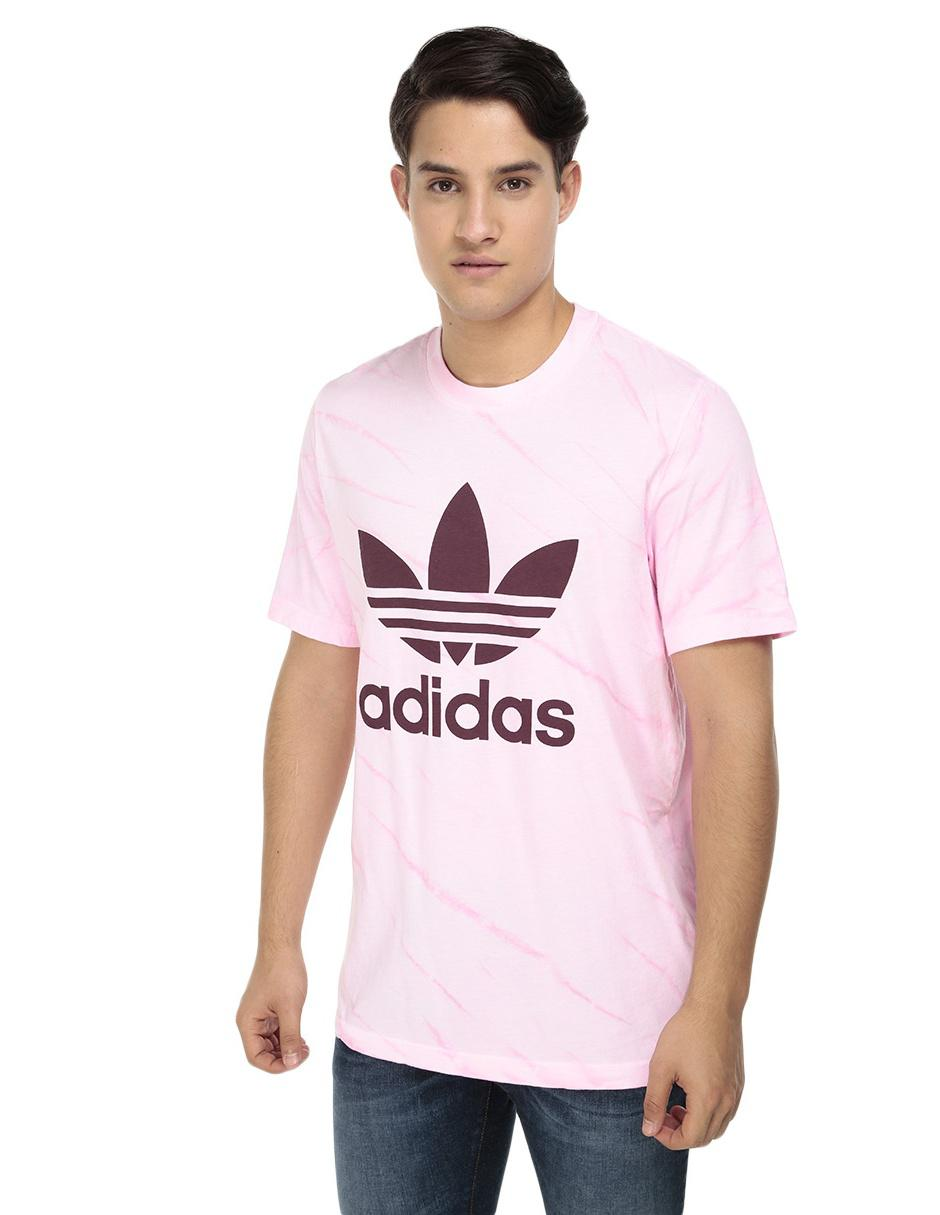 d05082314a689 Playera Adidas Originals corte regular cuello redondo rosa