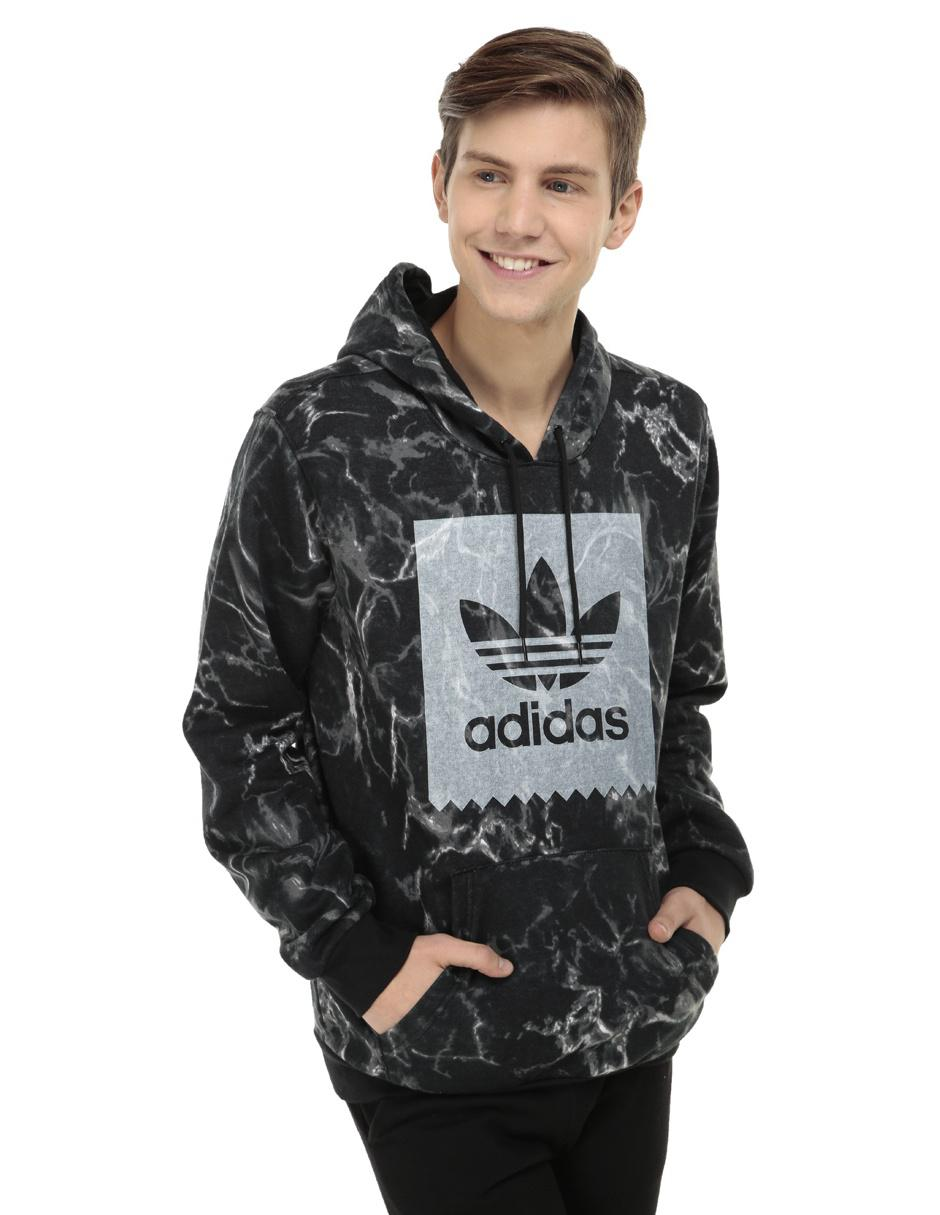 3b3e631f Sudadera Adidas Originals cuello redondo negra con diseño gráfico