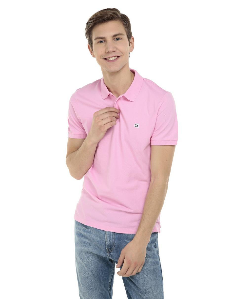 73e9d35d90a67 Playera polo Calvin Klein corte regular fit rosa