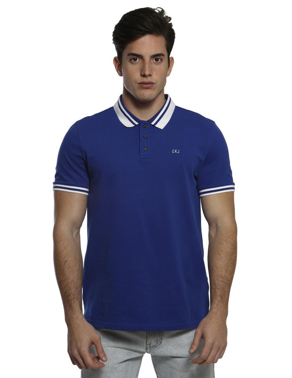 c63f799417b Playera polo Calvin Klein azul Precio Sugerido
