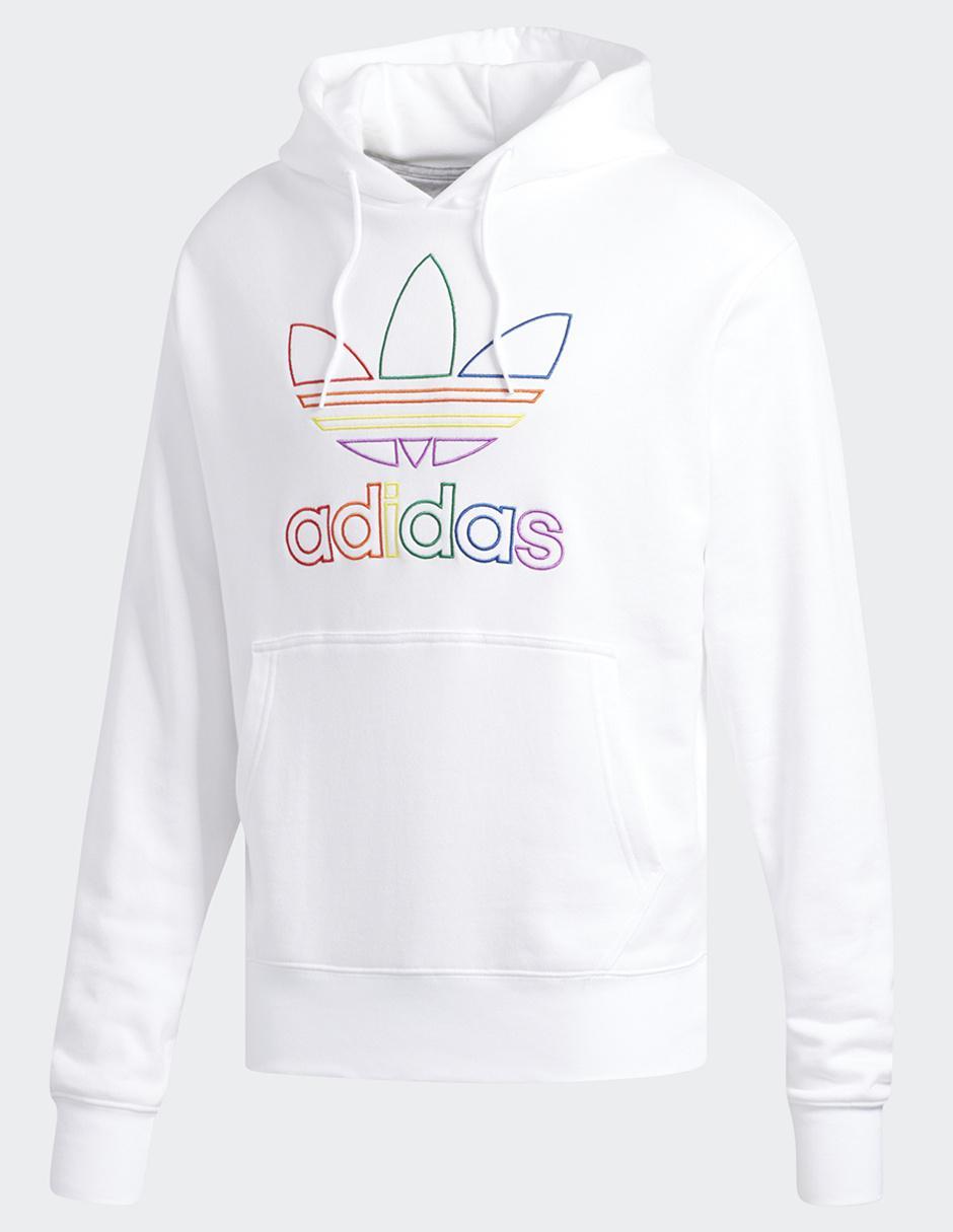 Cuello Sudadera Adidas Originals Blanca Pride Redondo 35R4qjLA