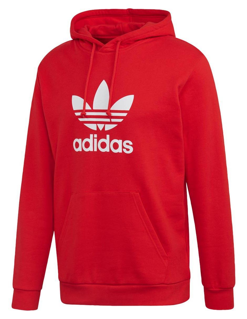 Sudadera Adidas Originals cuello redondo roja con capucha